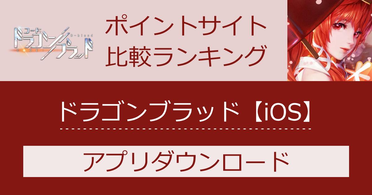 ポイントサイトの比較ランキング。スマホゲーム「コード:ドラゴンブラッド【iOS】」をポイントサイト経由でダウンロードしたときにもらえるポイント数で、ポイントサイトをランキング。