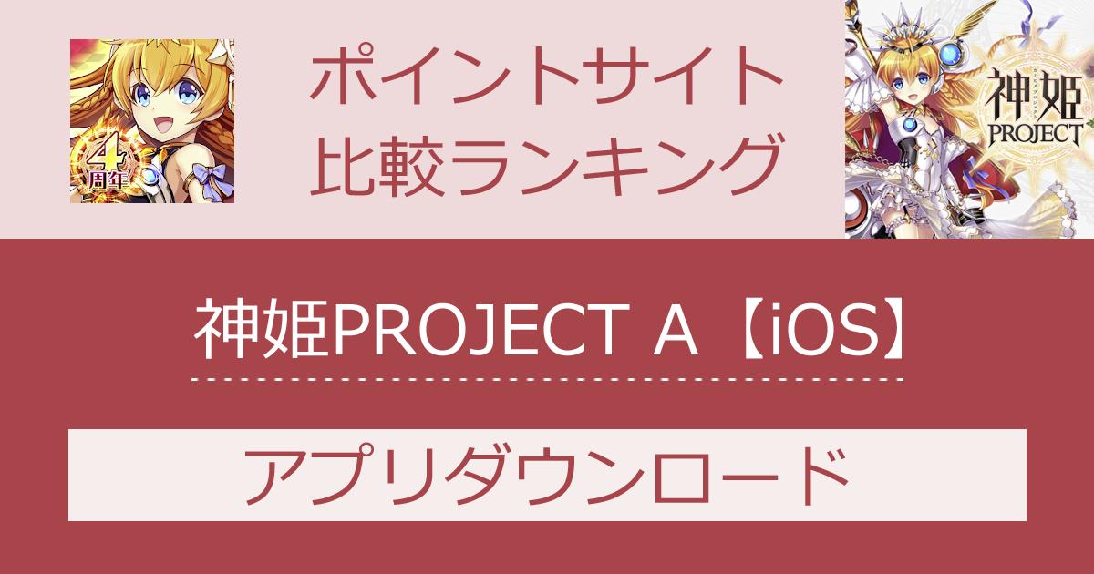 ポイントサイトの比較ランキング。ターン制RPG「神姫PROJECT A【iOS】」をポイントサイト経由でダウンロードしたときにもらえるポイント数で、ポイントサイトをランキング。