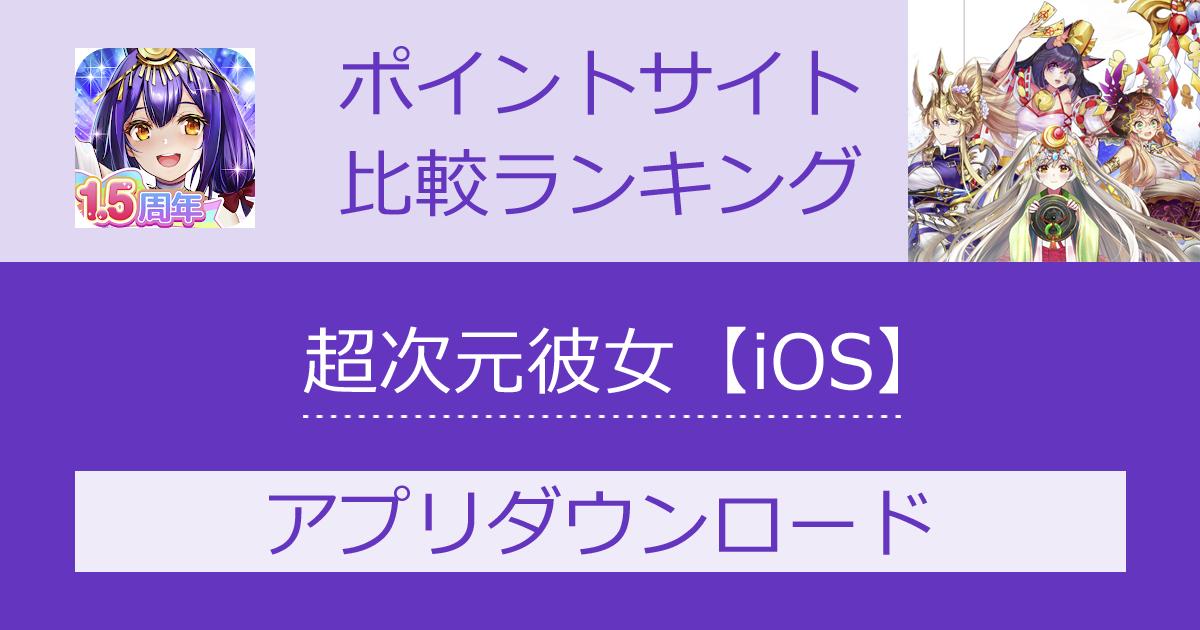 ポイントサイトの比較ランキング。育成型放置系カードRPG「超次元彼女:神姫放置の幻想楽園【iOS】」をポイントサイト経由でダウンロードしたときにもらえるポイント数で、ポイントサイトをランキング。
